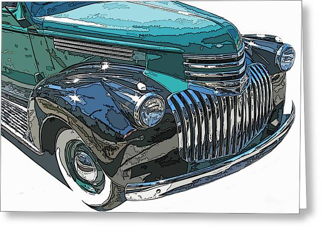 Samuel Sheats Greeting Cards - Classic Chevy Pickup 2 Greeting Card by Samuel Sheats