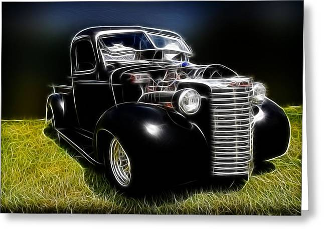 1932-1937 Greeting Cards - Classic Chevy Truck Greeting Card by Steve McKinzie
