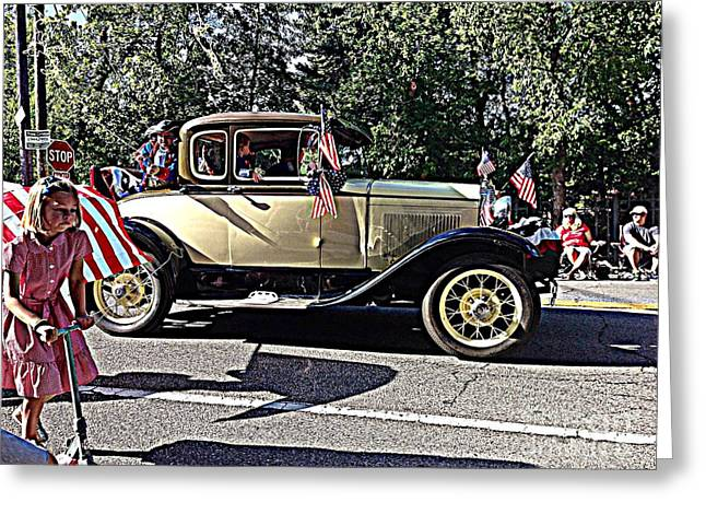 Classic Children's Parade Classic Car East Millcreek Utah 1 Greeting Card by Richard W Linford