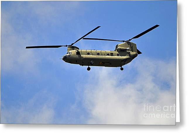 Helo Greeting Cards - Classic Chinook Greeting Card by Al Powell Photography USA