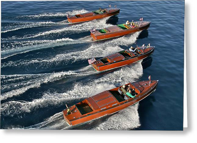 Classic Chris-craft Boats Greeting Card by Steven Lapkin