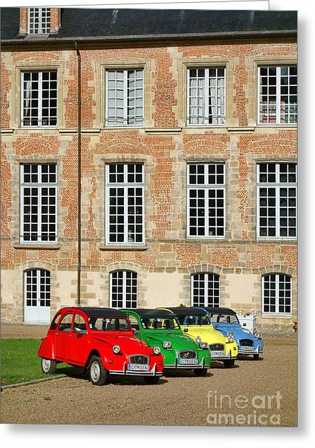 Color Green Greeting Cards - Classic Citroen Greeting Card by Olivier Le Queinec