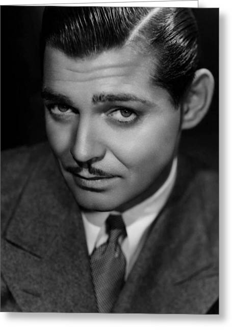 Award Digital Greeting Cards - Classic Clark Gable Photo Greeting Card by Nomad Art And  Design