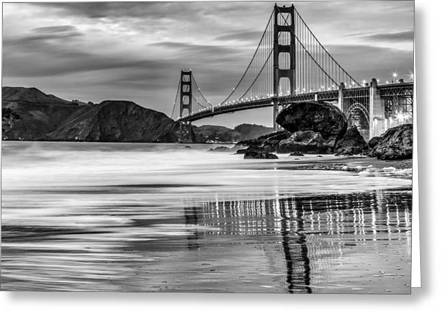 Golden Gate Bridge Greeting Cards - Classic Colors Greeting Card by Dave Gordon