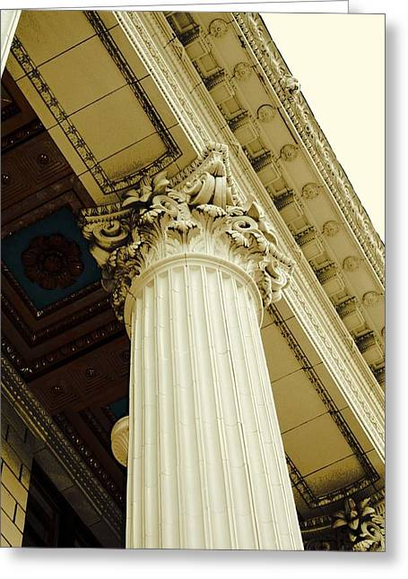 Greek Columns Greeting Cards - Classic Column Greeting Card by Cathie Tyler