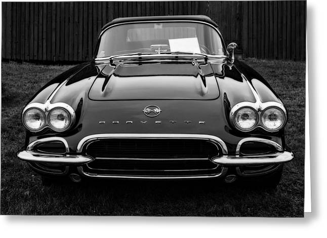 Auto Show Greeting Cards - Classic Corvette Greeting Card by Edward Fielding
