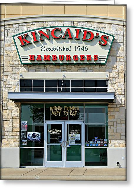 Cheeseburger Photographs Greeting Cards - Classic Cowtown Burger 2.1 Greeting Card by Stephen Stookey