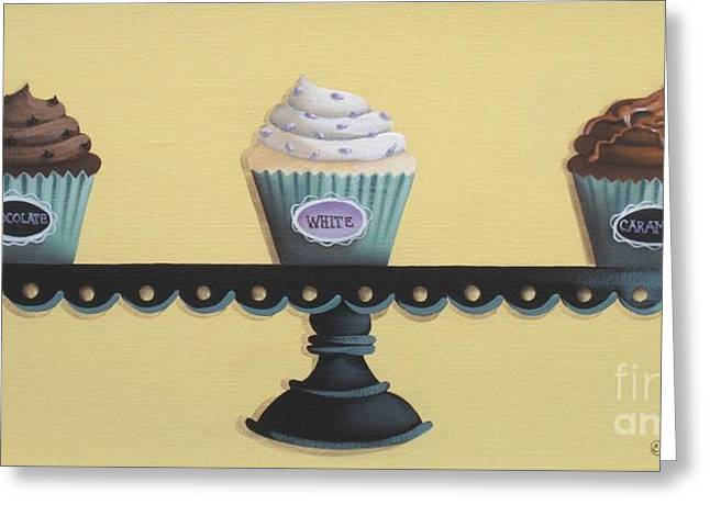 Best Sellers -  - Catherine White Greeting Cards - Classic Cupcakes Greeting Card by Catherine Holman