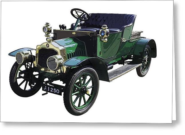 Antique Automobile Greeting Cards - Classic De Dion Bouton Classic Car Greeting Card by Keith Webber Jr