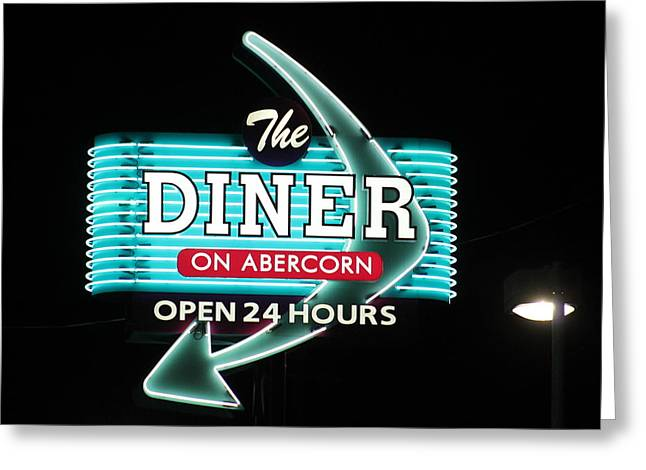 Abercorn Greeting Cards - Classic Diner Greeting Card by Kay Mathews