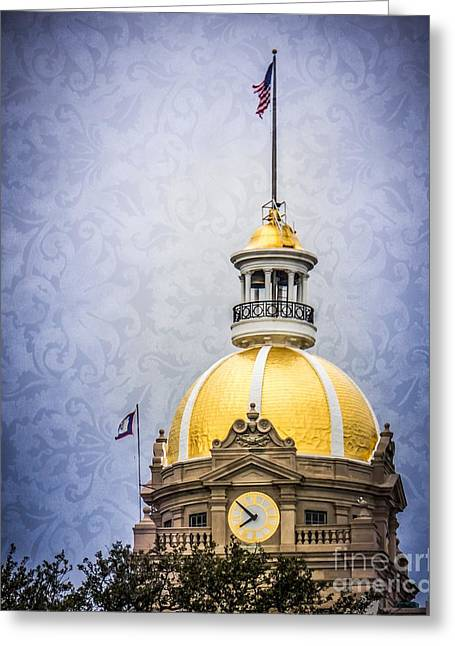 Court Digital Greeting Cards - Classic Dome Greeting Card by Perry Webster