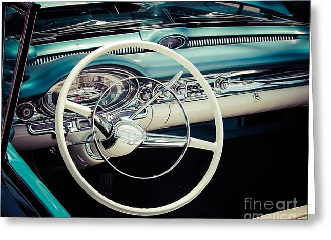 Drive In Style Greeting Cards - Classic Driver Greeting Card by Perry Webster