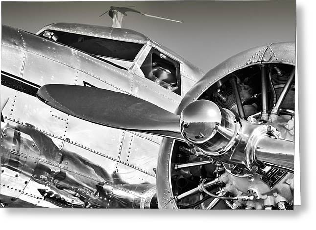 Lockheed Electra Greeting Cards - Classic Electra Greeting Card by Chris Buff