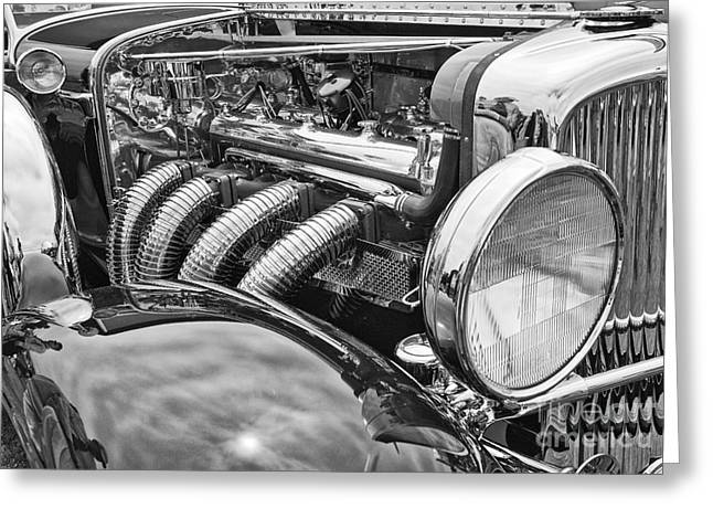Custom Grill Greeting Cards - Classic Engine - classic cars at the Concours d Elegance. Greeting Card by Jamie Pham