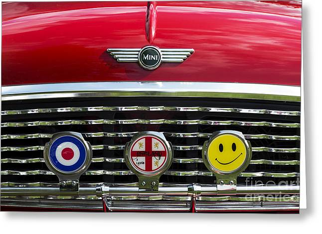 British Motor Car Greeting Cards - Classic English Mini Greeting Card by Tim Gainey