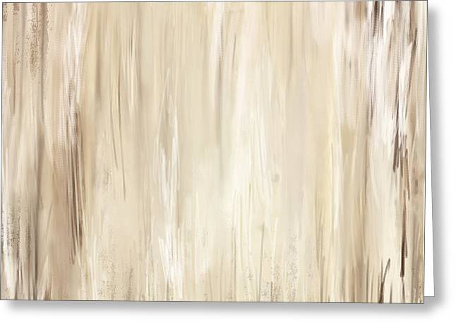 Beige Abstract Greeting Cards - Classic Essence - Distressed Art Greeting Card by Lourry Legarde