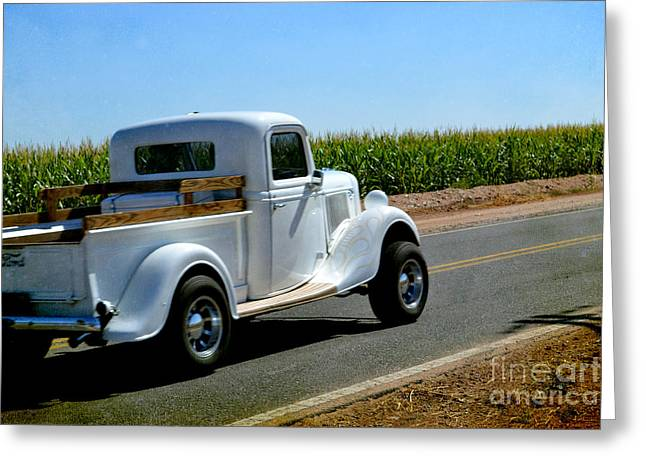 Photographs Glass Greeting Cards - Classic Ford  Greeting Card by Beverly Guilliams