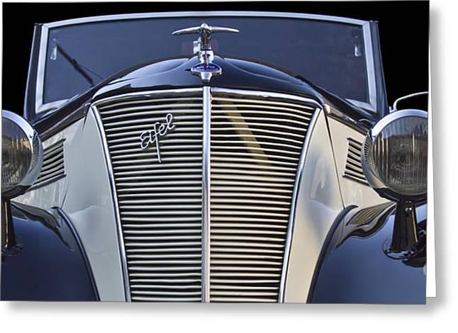 Classic Ford Eifel Cabrio 1939 Greeting Card by Heiko Koehrer-Wagner