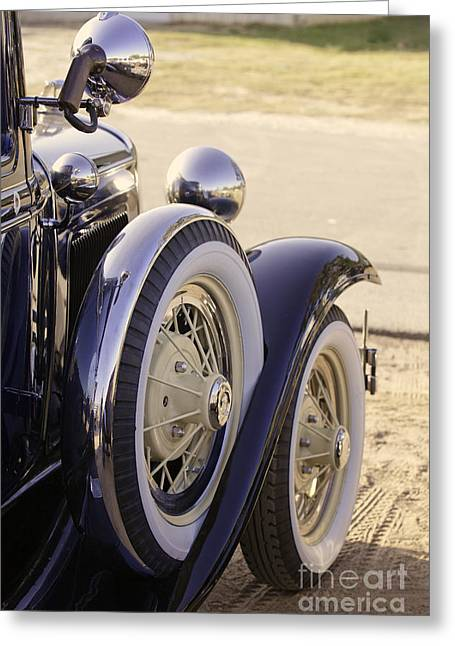 Classic Ford Police Car Automobile In Color 3014.02 Greeting Card by M K  Miller