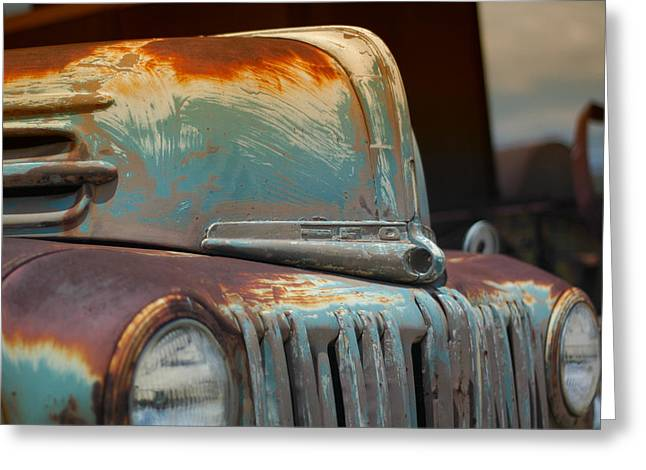 Classic Ford Truck Greeting Card by Juan Torrero