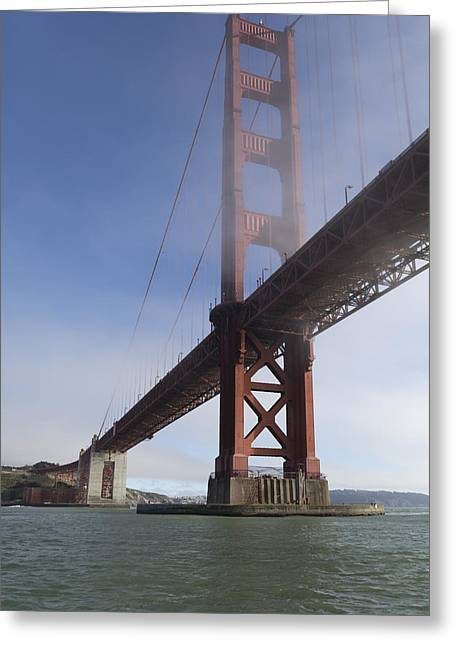 Classic Golden Gate Greeting Card by Scott Campbell