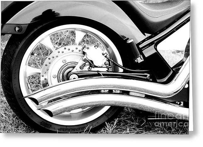 Mudguard Greeting Cards - Classic Honda detail Greeting Card by Christopher Edmunds