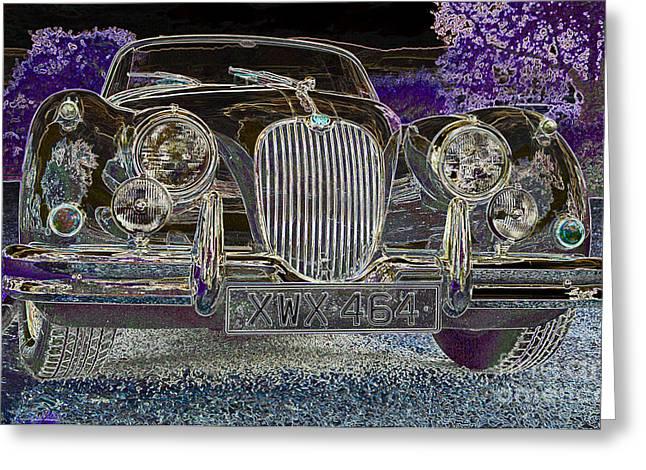 Jaguars Greeting Cards - Classic Jaguar Surreal Greeting Card by Rosemary Calvert