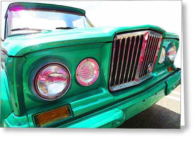 Jeeps Greeting Cards - Classic Jeep J3000 4 Wheel Drive by Sharon Cummings Greeting Card by Sharon Cummings