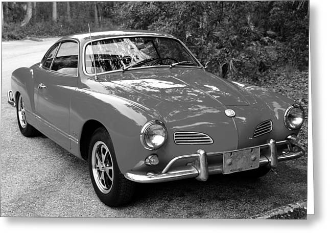 Antique Automobiles Photographs Greeting Cards - Classic Karmann Ghia Greeting Card by David Lee Thompson