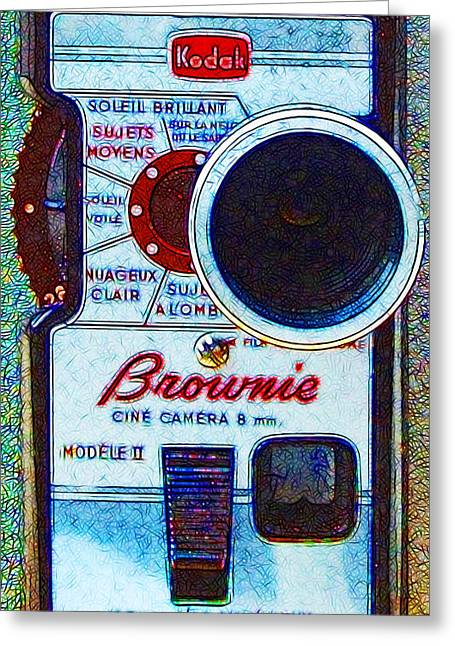 Reflex Greeting Cards - Classic Kodak Brownie Camera - 20130117 Greeting Card by Wingsdomain Art and Photography