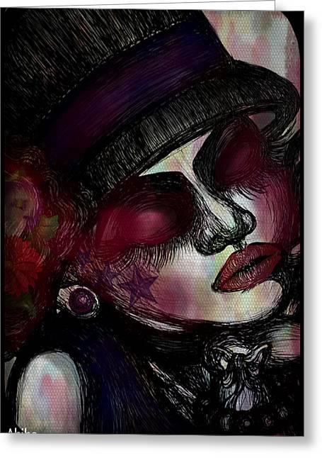 Analog Paintings Greeting Cards - Classic Lady Greeting Card by Akiko Kobayashi