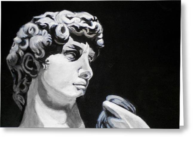 Greek Sculpture Paintings Greeting Cards - Classic Greeting Card by Liz Borkhuis
