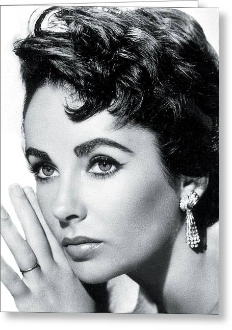 British Celebrities Digital Greeting Cards - Classic Liz Greeting Card by Nomad Art And  Design