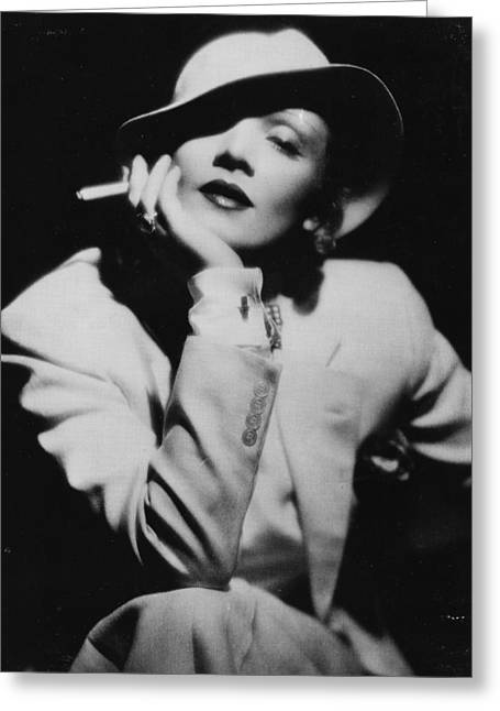 Dietrich Greeting Cards - Classic Marlene Greeting Card by Nomad Art And  Design