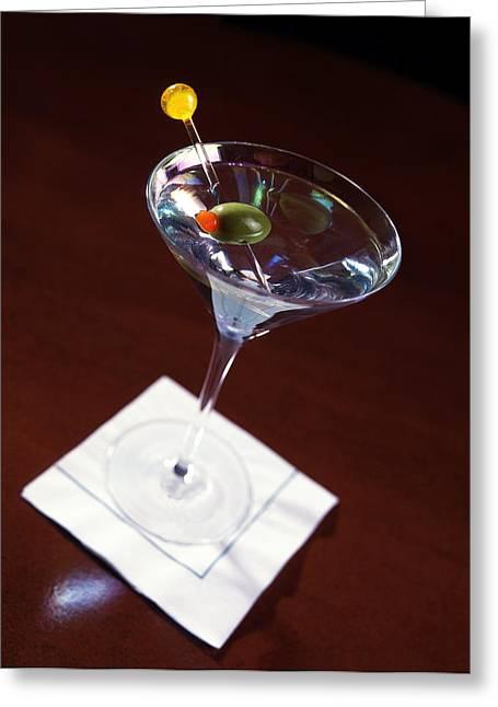 Martini Glass Greeting Cards - Classic Martini Greeting Card by Jon Neidert
