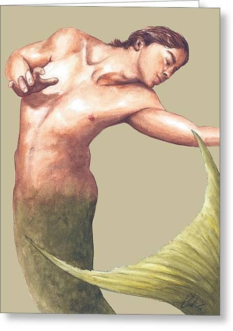 Bruce Lennon Greeting Cards - Classic Merman Greeting Card by Bruce Lennon
