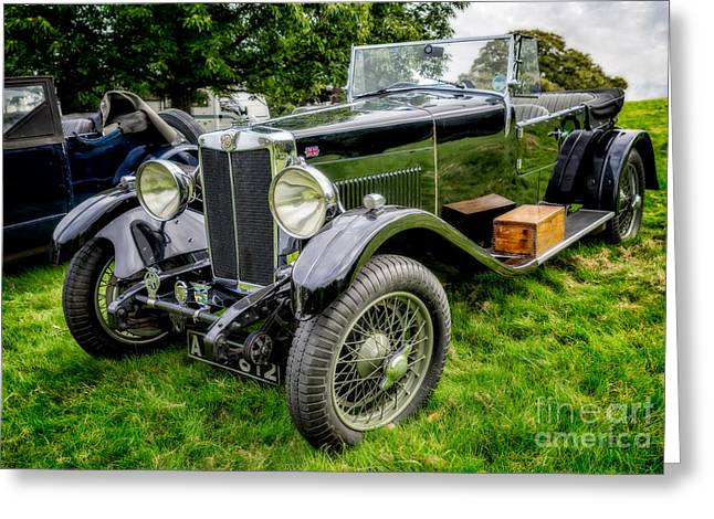 British Car Greeting Cards - Classic MG Greeting Card by Adrian Evans