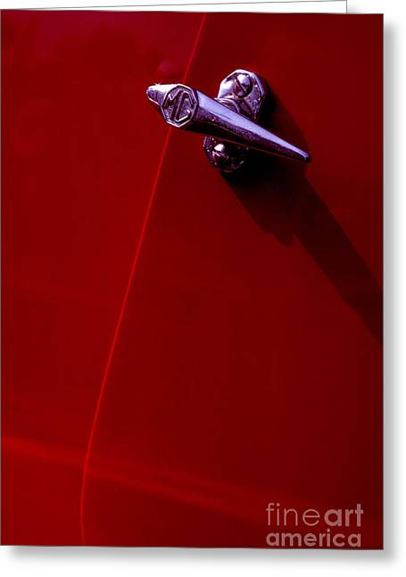 Chrome Handles Greeting Cards - Classic MG handle Greeting Card by Paul W Faust -  Impressions of Light