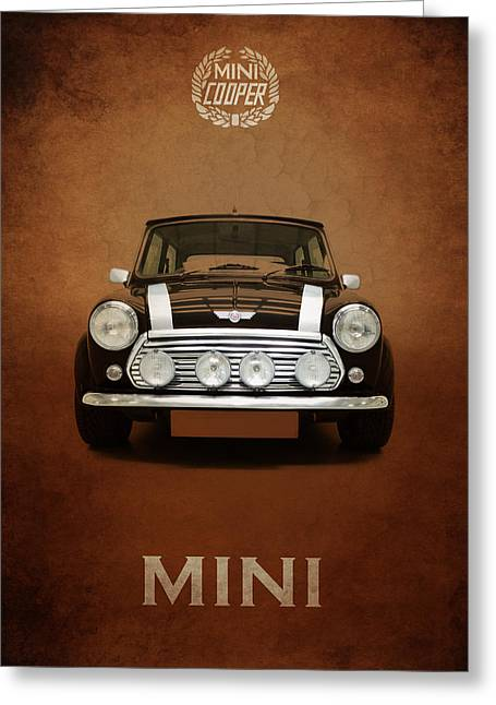 Mini Photographs Greeting Cards - Classic Mini Cooper Greeting Card by Mark Rogan