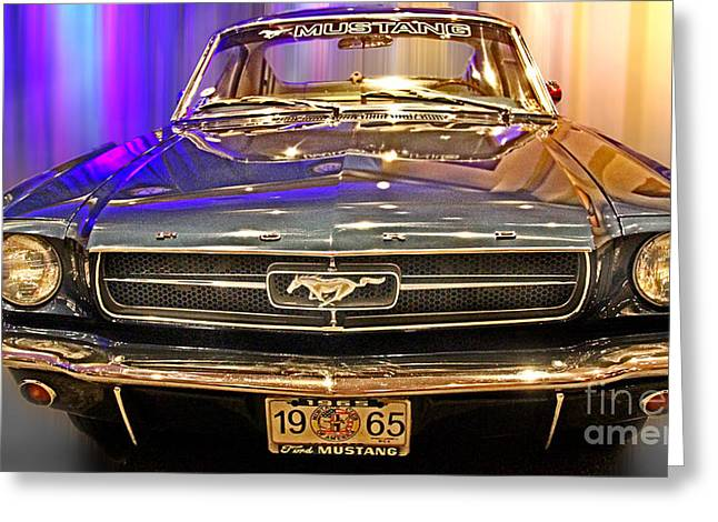 289 Motor Greeting Cards - Classic Mustang Greeting Card by Tom Gari Gallery-Three-Photography