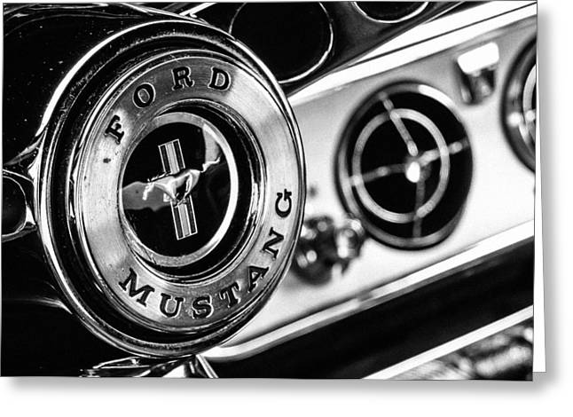 Classic Mustang Interior Detail Greeting Card by Jon Woodhams
