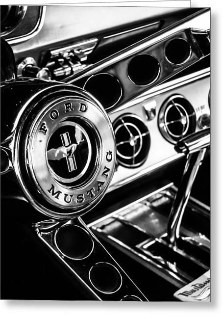 Classic Mustang Interior Greeting Card by Jon Woodhams