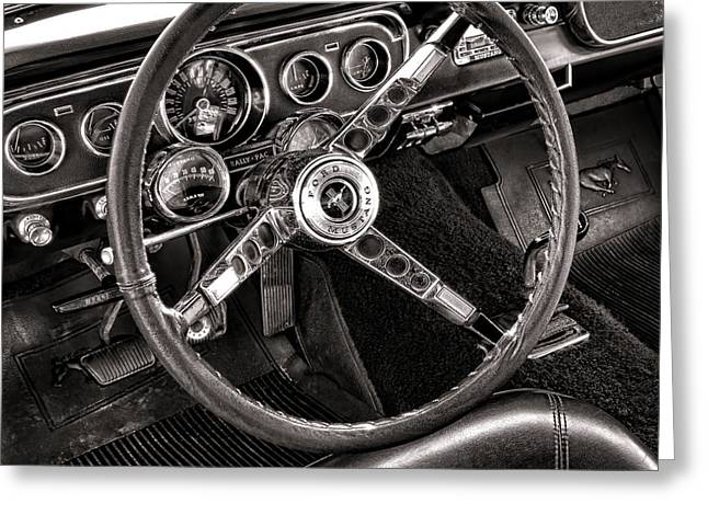 Fastback Greeting Cards - Classic Mustang Greeting Card by Olivier Le Queinec