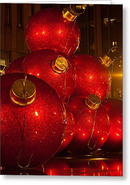 Classic New York Christmas Greeting Card by Paul Mangold
