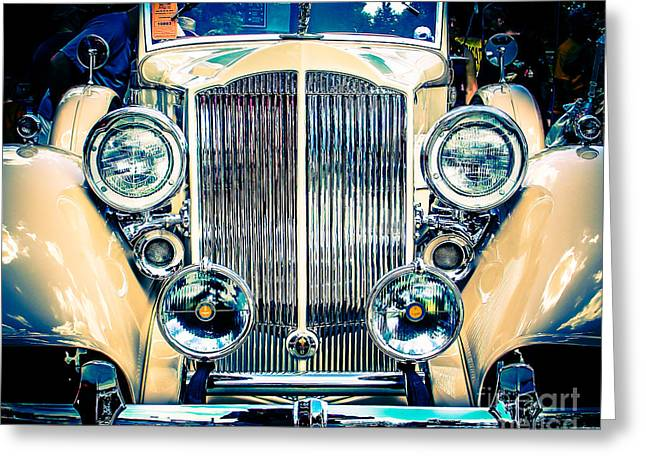 Classic Old Car Greeting Card by Perry Webster