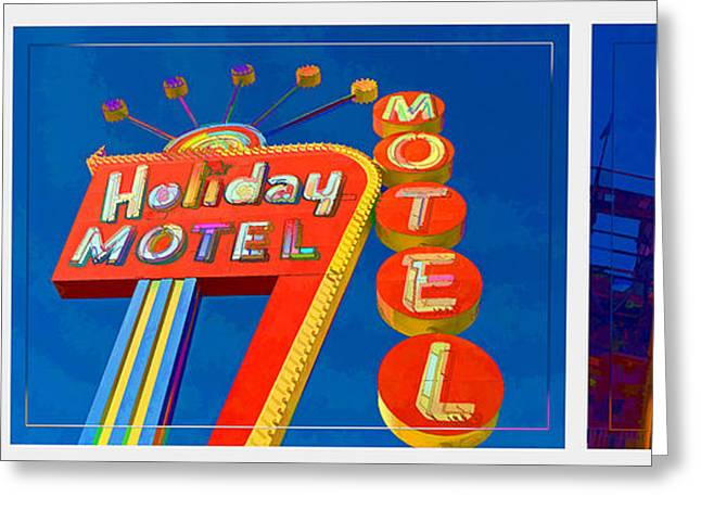 Thunderbolt Greeting Cards - Classic Old Neon Signs Greeting Card by Edward Fielding