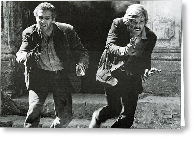 Butch Cassidy Greeting Cards - Classic Photo of Butch Cassidy and the Sundance Kid Greeting Card by Nomad Art And  Design