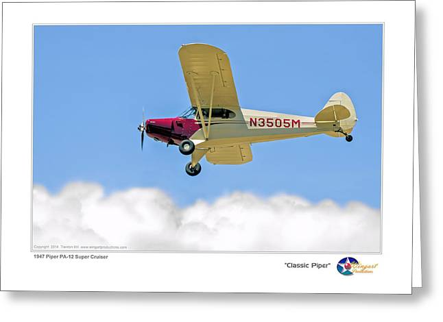 Tail-draggers Greeting Cards - Classic Piper Greeting Card by Trenton Hill
