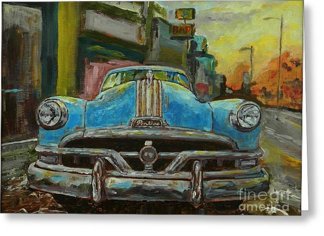 Impressionist Greeting Cards - Classic Pontiac Greeting Card by William Reed