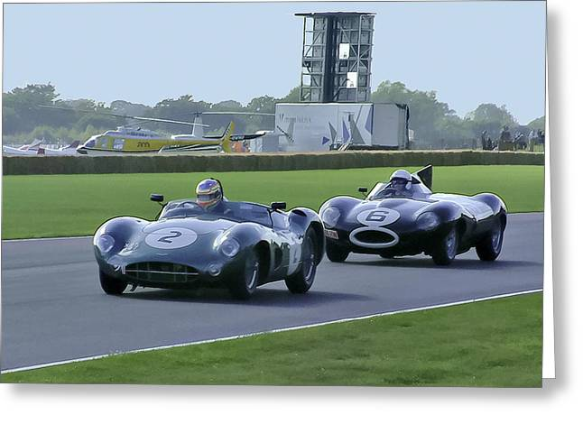 Goodwood Greeting Cards - Classic Racers Greeting Card by Alan Toepfer